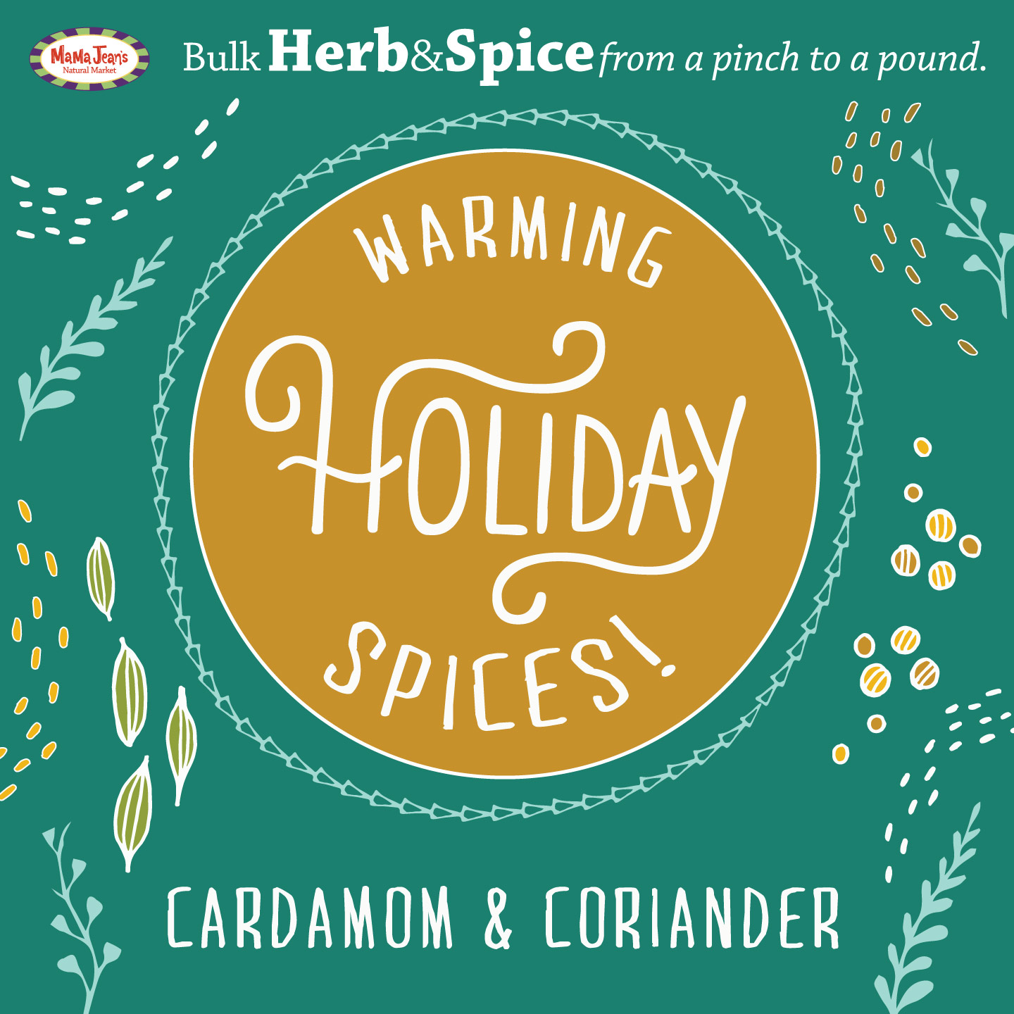 Herb & Spice Coriander and Cardamom