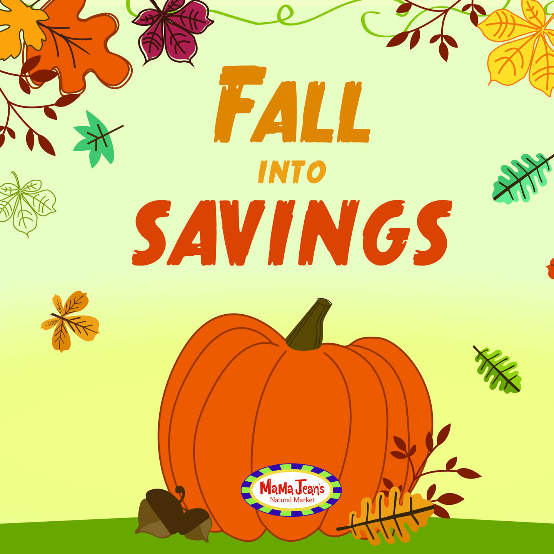 Fall October Sales