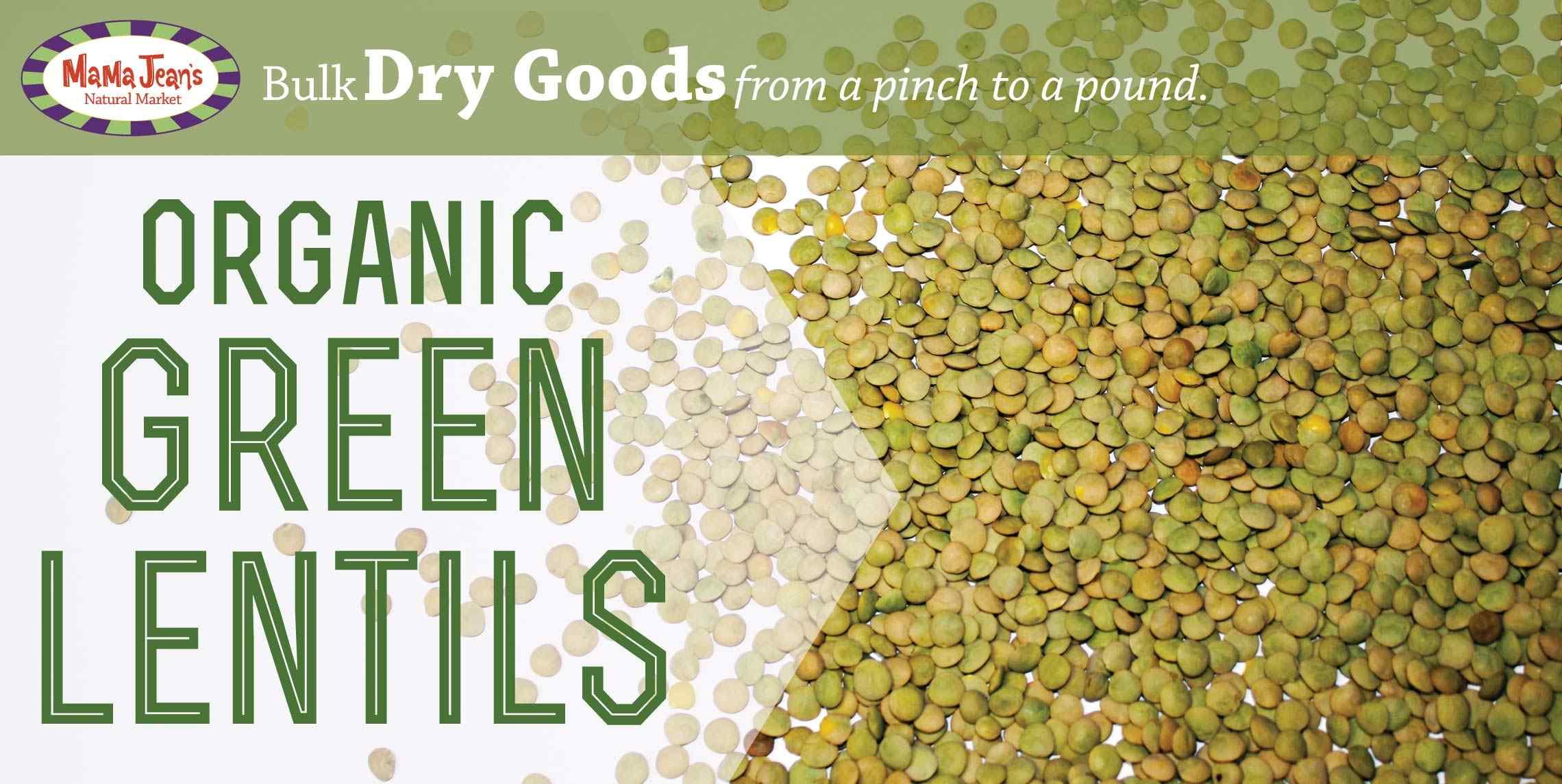 Bulk Feature: Organic Green Lentils